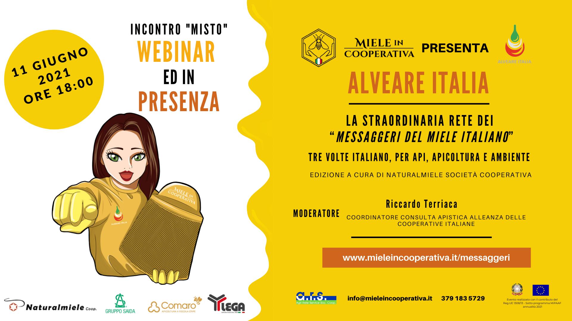 You are currently viewing Webinar 11 Giugno per il Percorso Formativo dei Messaggeri del Miele Italiano